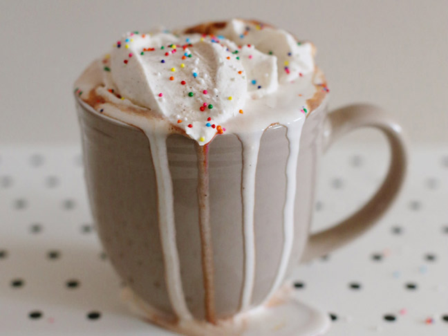 Nutella Hot Chocolate with Cinnamon Whipped Cream