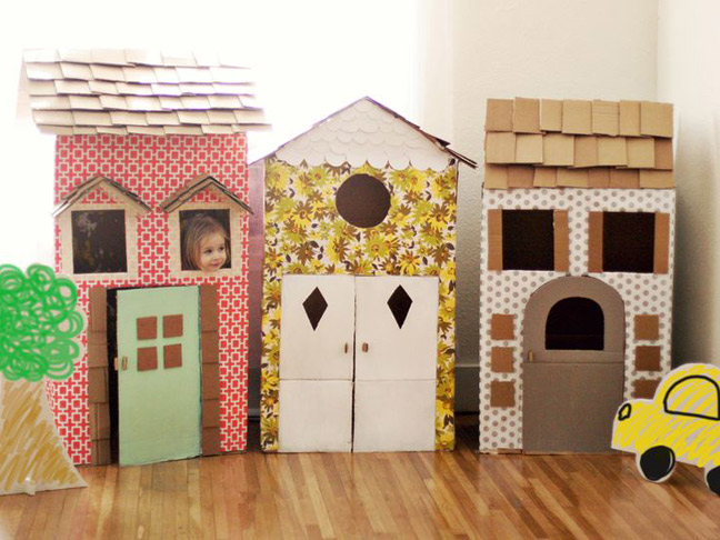 Make a Cardboard Playhouse