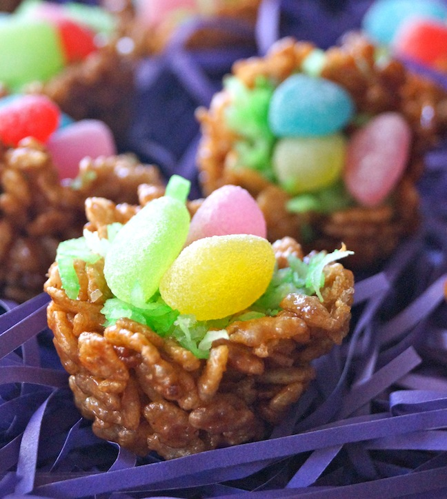 Easter Dessert Recipe Chocolate Rice Krispie Treat Nests