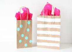 DIY Hand Painted Gift Bags