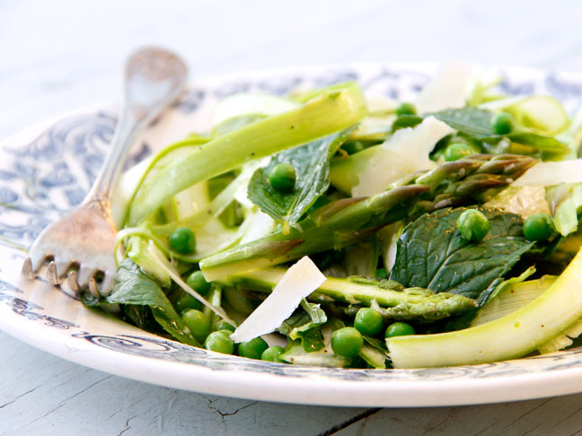 Shaved Asparagus Salad with Peas and Mint Recipe