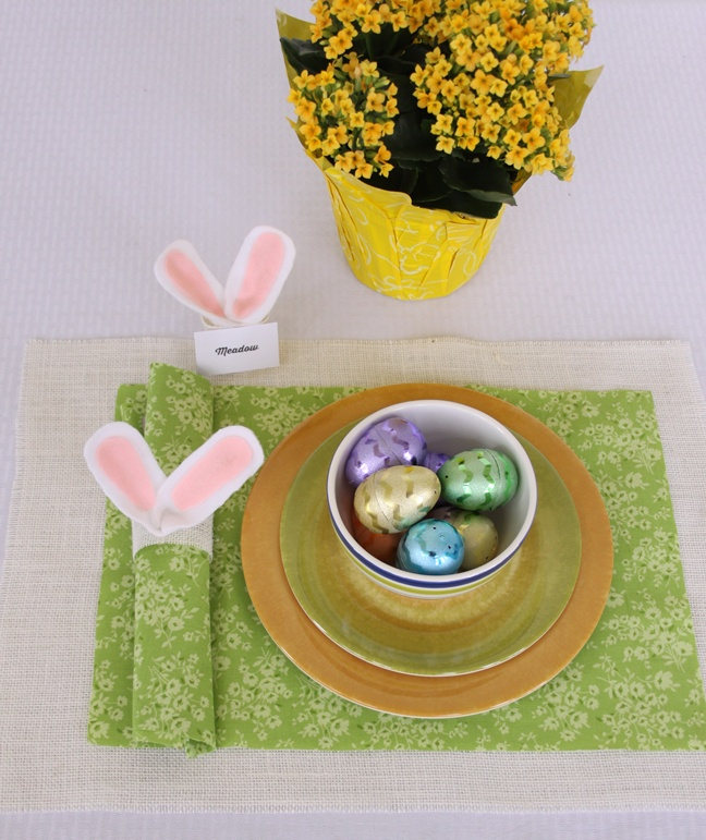 Easy Diy Easter Bunny Ears Napkin Ring And Place Card Holder