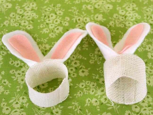 easter bunny ears place setting step 4-5