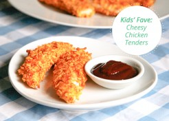 Easy Cheesy Baked Chicken Tenders Recipe