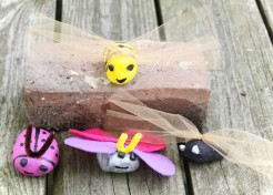 Painted Rock Bugs Outdoor Craft
