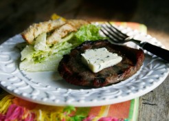 Grilled Steak with Garlic Herb Butter Recipe
