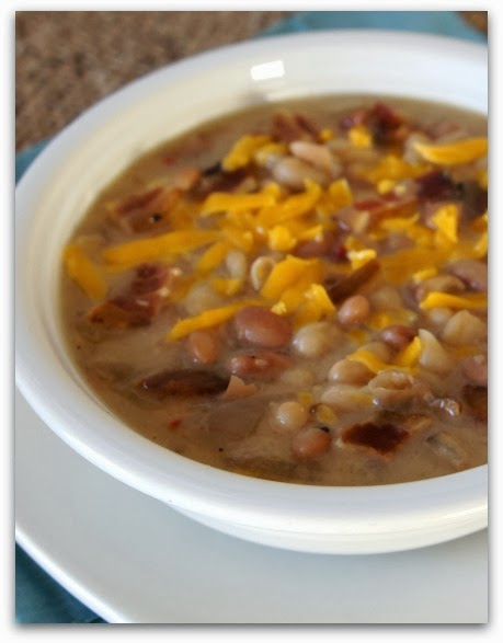 cheddar bacon and bean soup 3