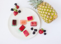 DIY Frozen Fruit Ice Cubes