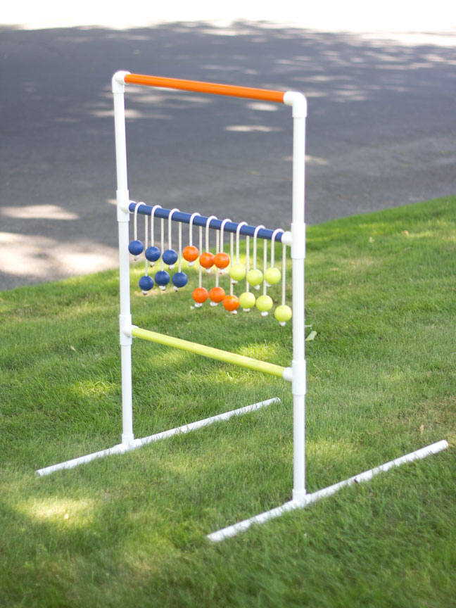 Diy pvc pipe ladder golf game step 6 all of your pieces should be assembled and now you can invite all your friends over to play stand 15 feet back from your ladder and toss your solutioingenieria Gallery