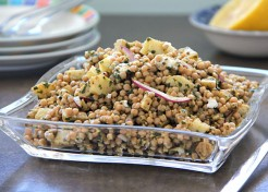 Meatless Monday: Israeli Couscous Pesto Salad with Artichokes Recipe