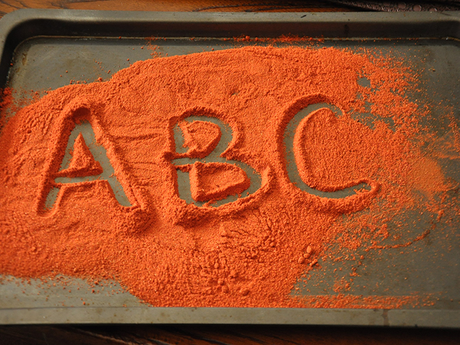 orange powder abc
