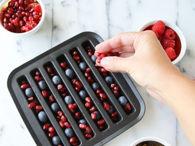 Striped Ice Cube Tray for July 4th