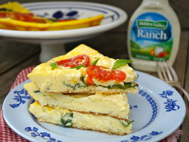 Fresh Caprese Hidden Valley Ranch Frittata Recipe - Momtastic