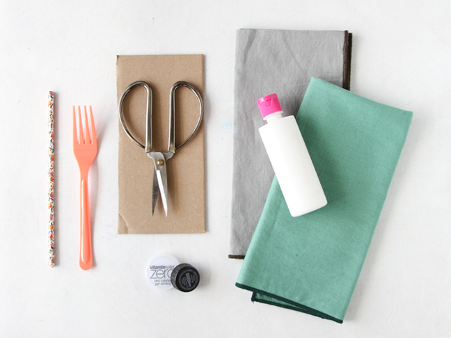 Supplies for DIY Napkin Stamping