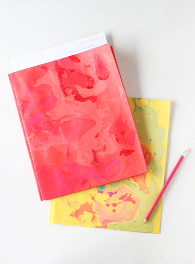 DIY Marbled Folders