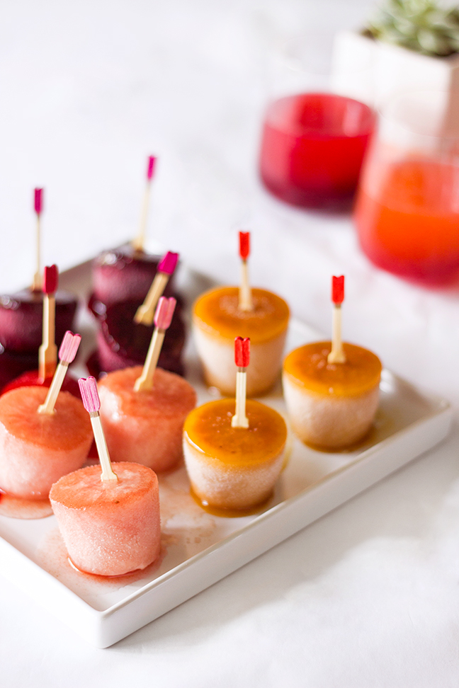 pink orange cocktail popsicles