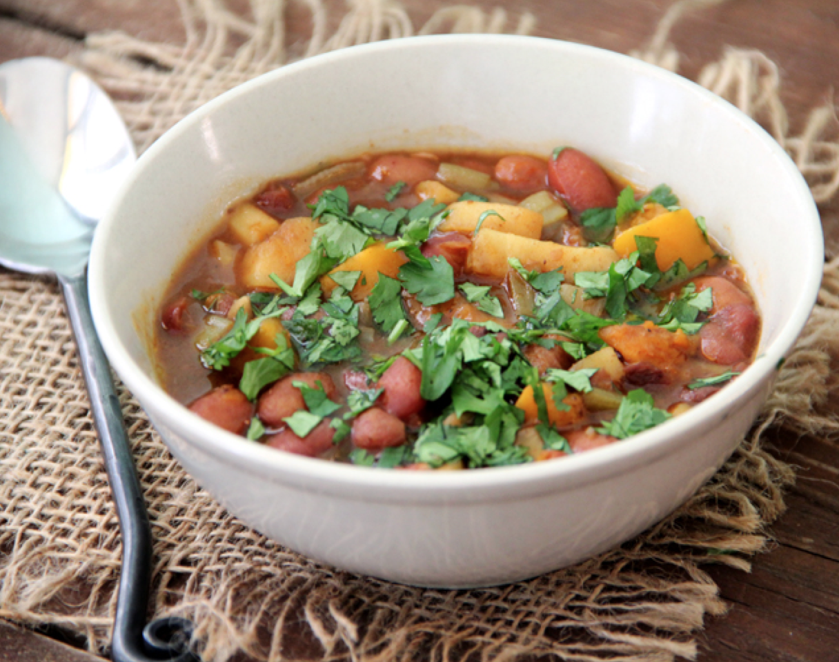 Root Vegetable and Bean Soup