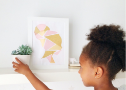 DIY Silhouette Art with a Modern Twist