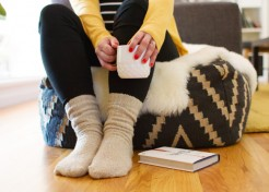 Upcycle a Sweater to Make DIY Cozy Sweater Socks