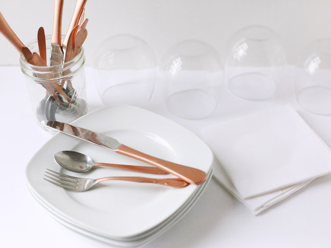 DIY Copper Gilded Flatware