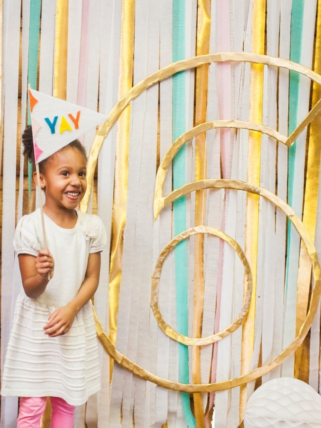 Photo booth background for birthday