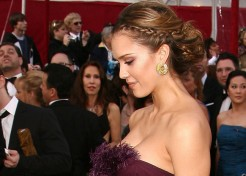 Jessica Alba Braided Updo Tutorial