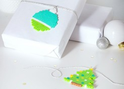 DIY Gift Tags Made with Perler Beads