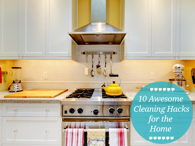 10 best cleaning hacks for the home for Household hacks