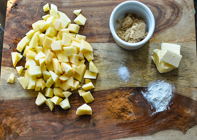 ingredients needed to make mcdonalds style baked apple pies