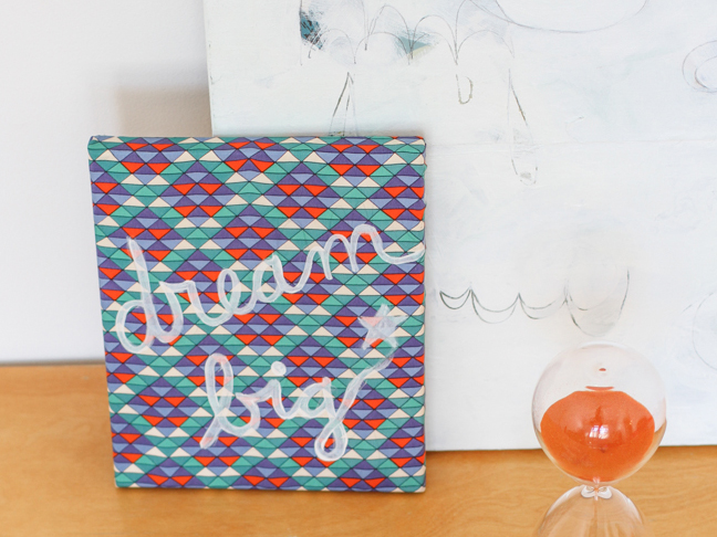 Finished fabric-covered canvas DIY
