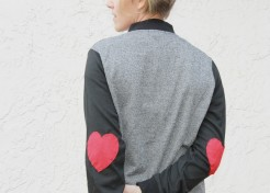 How To Add Heart Elbow Patches to Any Jacket (Perfect for V-Day!)