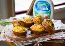 Crustless Ranch Mushroom Quiche Cups Recipe