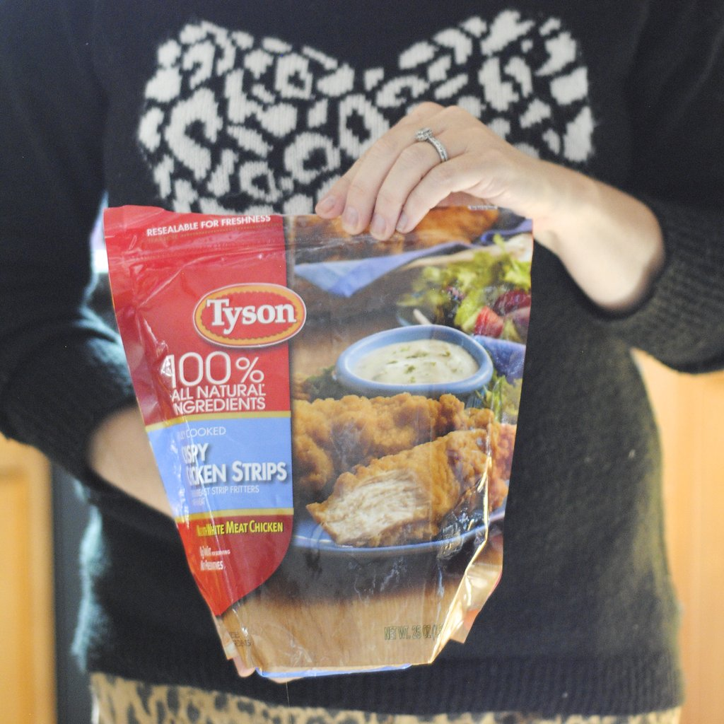 Tyson Crispy Chicken strips in a bag