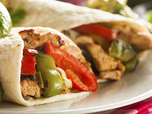 chicken fajitas peppers