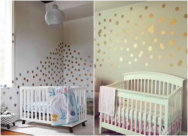 Splurge Vs Steal How To Create A Gorgeous Nursery On Any Budget - Nursery polka dot wall decals
