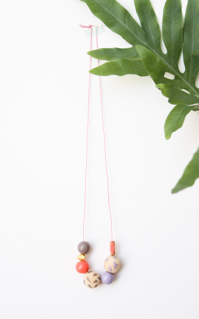Long Painted Necklace DIY