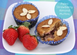 Gluten Free Paleo Strawberry Almond Muffins Recipe