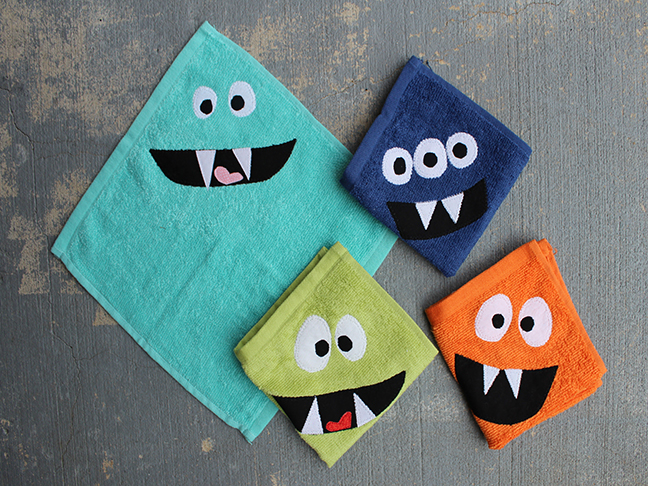 monster wash cloths
