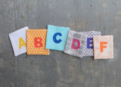 DIY: Alphabet Coasters
