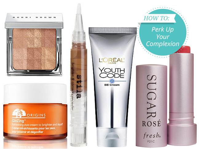 Origins ginzing, Stila concealer, Loreal Youth Code and Sugar Balm pictured together