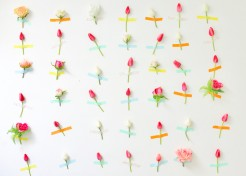 DIY Flower Wall for Spring