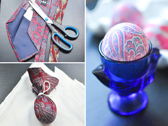How To Dye Easter Eggs Using Old Silk Neckties Yes Ties