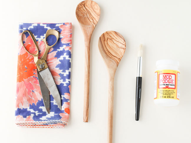 Fabric Covered Serving Spoons Supplies
