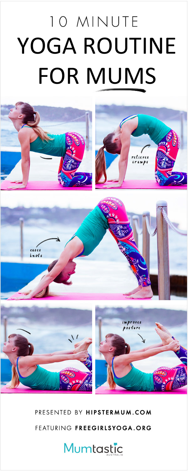 Yoga routine for mums