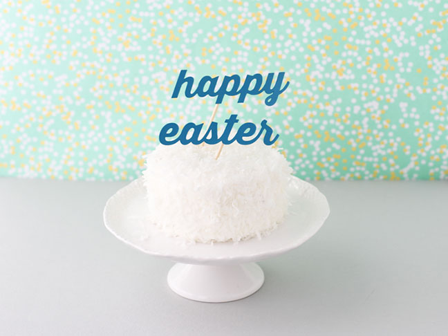 Easter Cake Topper DIY