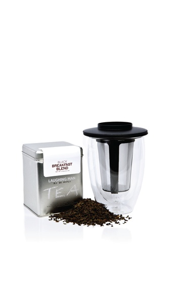 laughing man tea for one with infuser and bags
