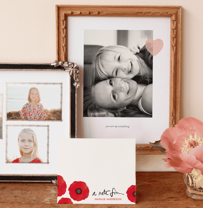 minted art prints and stationery for Mother's Day