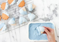 DIY Color Blocked Cookies for a Baby Shower