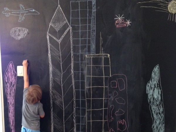 DIY chalkboard wall.2
