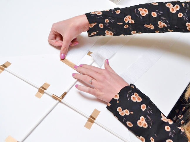 how-to-make-paper-kite-taping-gold-tape